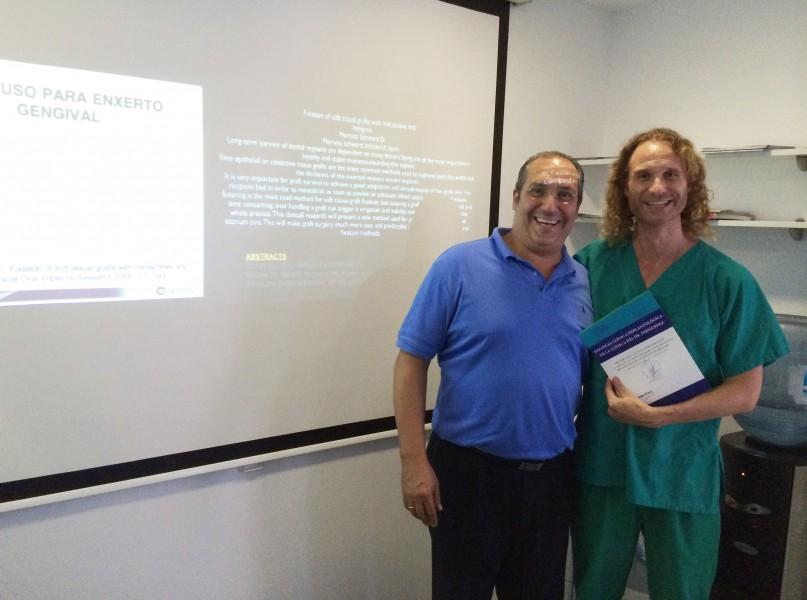 Dr. Fernández y Luis Pozo